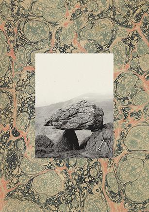 Erratic MarblesDetalleSerie de 32 collages. Impresión sobre páginas encontradas e impresión Glicleé sobre papel Hahnemühle Museum Etching 350g46.3 x 37 x 4.1 cm c/u2014