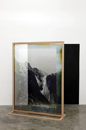Fading Field N.2Impresión digital sobre chiffon de seda, estructura de madera187 x 143 x 40 cm2012