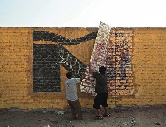 Ñ DE LA SERIE EJERCICIOS SUPERFICIALESExtracción de muro2013