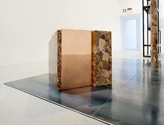 Rude Rocks N.2 (56 Bienal de Venecia)Mármol Breccia tallado y pulido a mano, cobre y acero50 x 50 x 50 cm201556 Bienal de Venecia, All the World's Futures, curada por Okwui Enwezor