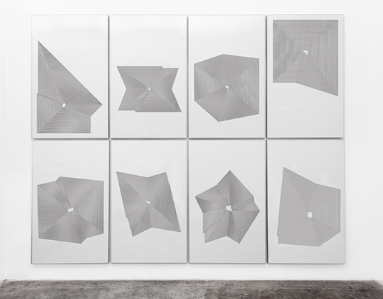 PATRONES DE DISTANCIADibujos en tinta de caucho sobre papel81 x 130 cm c/u2015