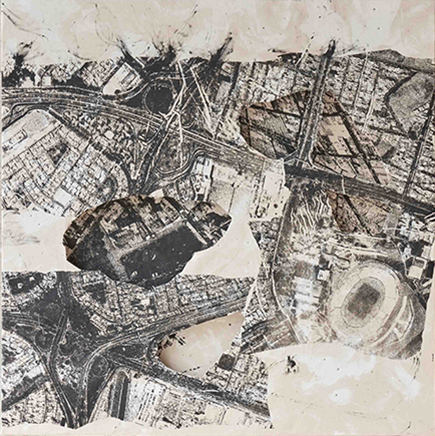 ARQUEOLOGÍA IIITinta y técnica mixta sobre tela210 x 210 cm2017