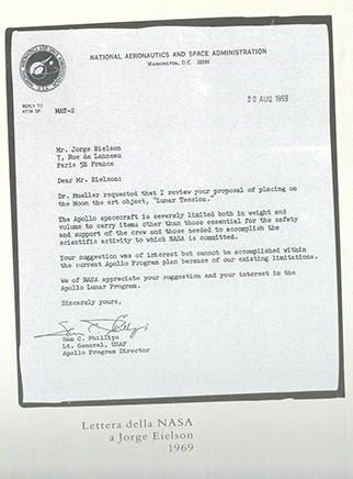 LETTER FROM NASA1969
