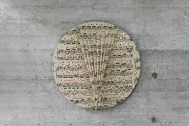 DAL CLAVICEMBALO BEN TEMPERATO DI J.S. BACHTela sobre bastidor de madera91 cm de diámetro1997