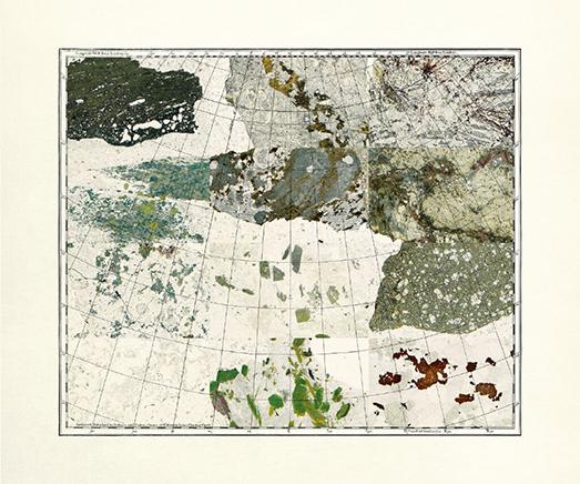 MINERAL CARTOGRAPHIES (EUROPE)Impresión Gliceé sobre papel de algodón75 x 36 cm2018