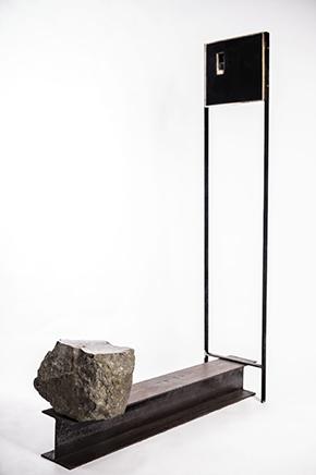 USHNU / REVESTIMIENTOAcero, bronce, mineral y  barros de Pachacamac160 X 113 x 33 cm2019