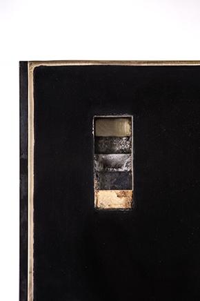 USHNU / REVESTIMIENTODetalle de acero, bronce, mineral y barros de Pachacamac2019