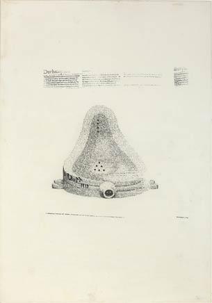 CALVIN TOMKIN'S FOUNTAINDibujo por impresión tipográfica de texto sobre papel86 x 61 cm2001