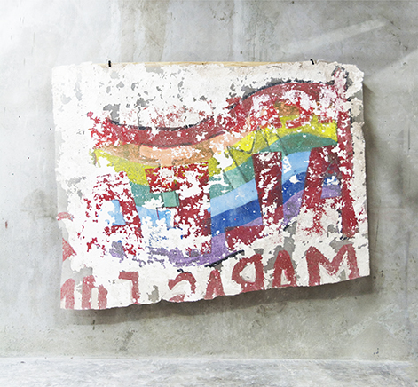 SIN TITULOExtracción de muro195 x 265 cm2018