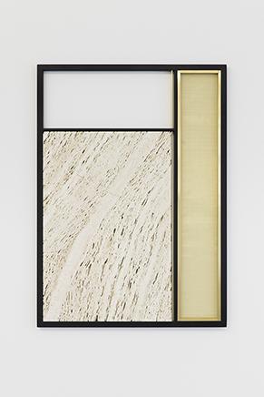 FILTER N.7Travertino Santa Caterina tallado y pulido a mano, cobre, acero inoxidable90 x 65 x 3 cm2017