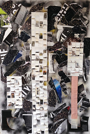 UNTITLEDCollage y técnica mixta sobre papel180 x 125 cm2015