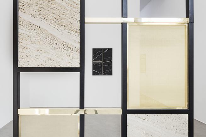 PARTITIONDetalleMarmól Brescia Chiara, Travertino Santa Caterina tallado y pulido a mano, cobre y acero inoxidable206 x 146 x 30 cm2016