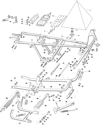 Vista explotada de diagramas de ingeniería usados para construir A FEW INVISIBLE SCULPTURES Tinta en papel de archivoMarco de madera blanco con vidrio especial museográfico70 x 100 cm, enmarcado2016