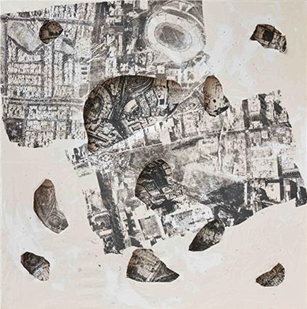 ARQUEOLOGÍA IVTinta y técnica mixta sobre tela210 x 210 cm2017